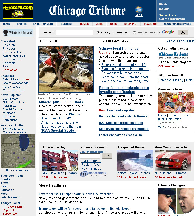 chicago tribune newspaper. Chicago Tribune