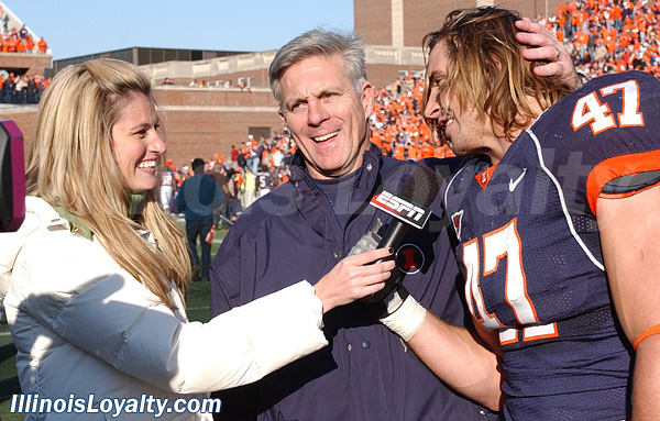 Erin Andrews interviews J Leman and Ron Zook