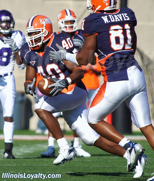 Bacher's pass was intercepted by Illinois LB Antonio Steele