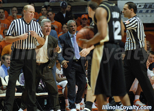 Bruce Weber reacts after receiving a technical in the first half.