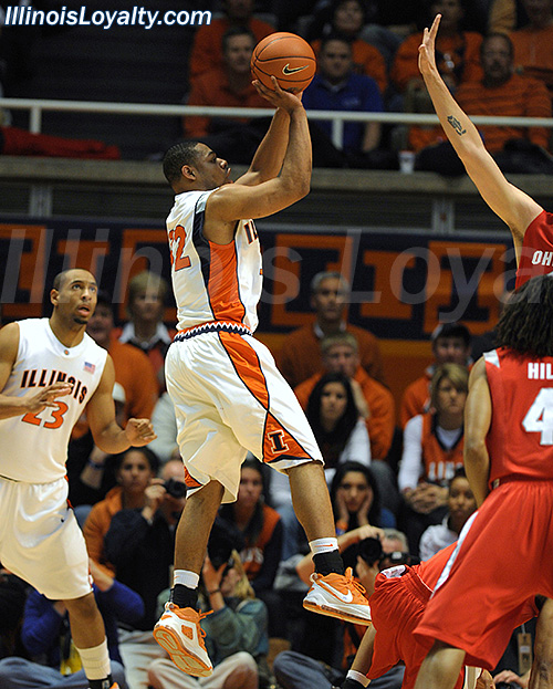 Illinois (16-3, 4-2) over Ohio State 67-49.