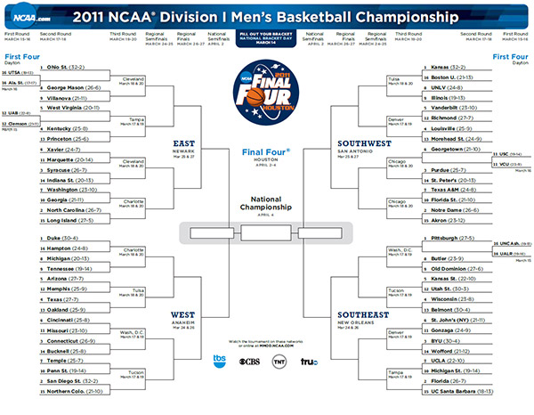 Update: 2012 NCAA Tournament Bracket
