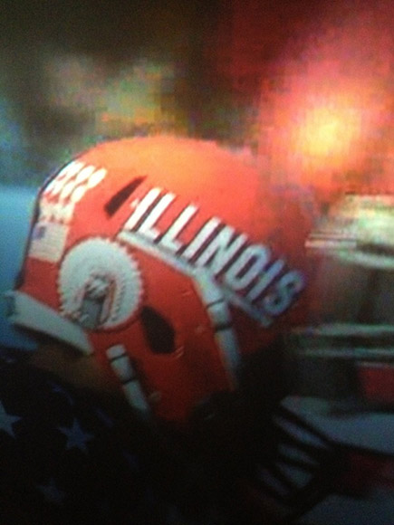 Chief Illiniwek helmet decal