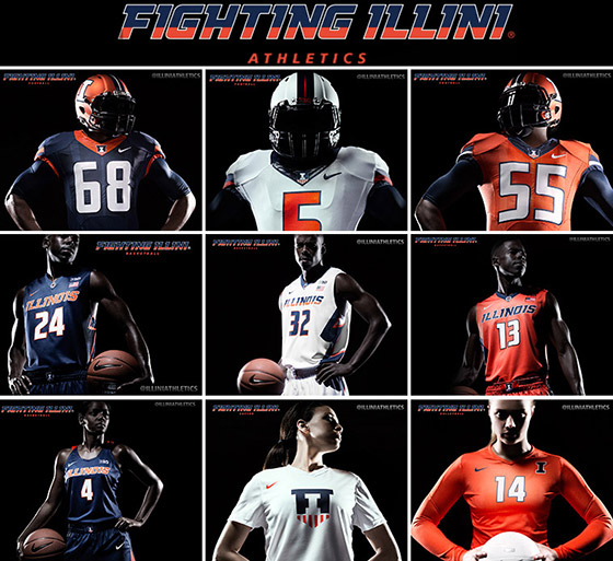The new Illini uniforms and updated brand identity