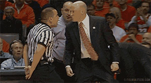John Groce and ref