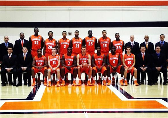 Illini basketball team photo 2012-2013