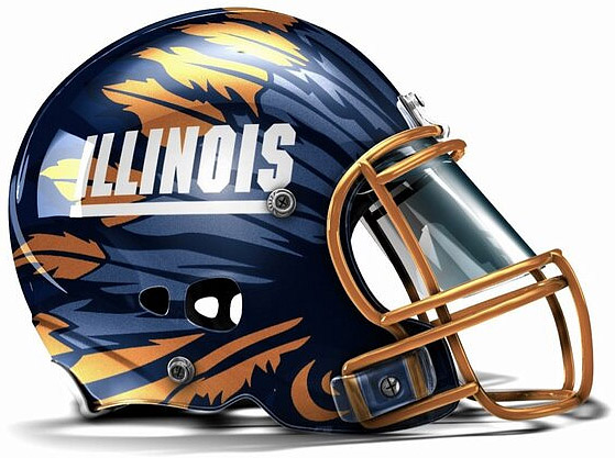 Illini football helmet concept