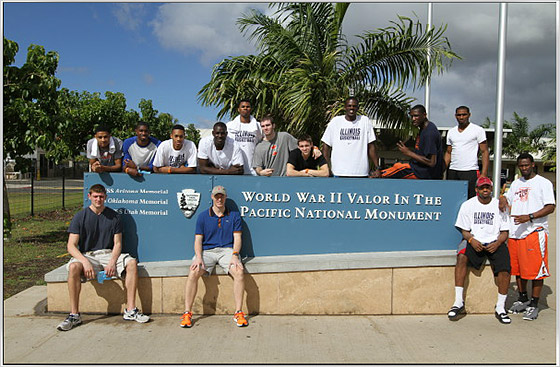 Illini visit Pearl Harbor