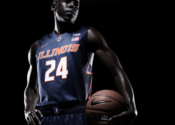 New Illini blue basketball jersey