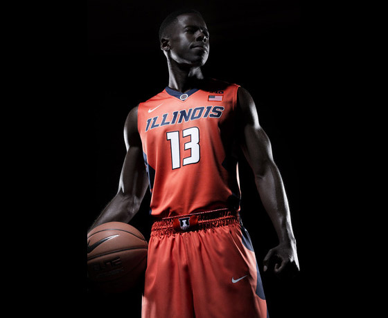 New Illini orange basketball uniform