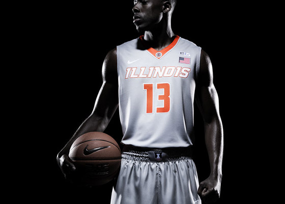 New Illini silver basketball uniform