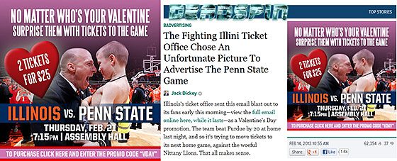 Illinois-Penn State ticket promotion Deadspin freakout