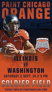 Illinois Launches Soldier Field Football Game Ads