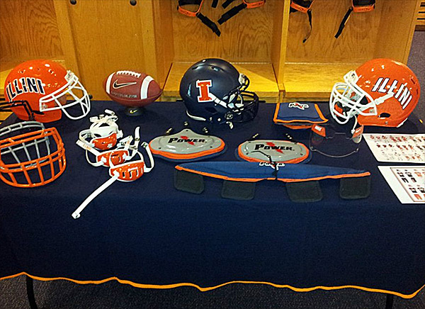 Illinois Fighting Illini Football Helmets