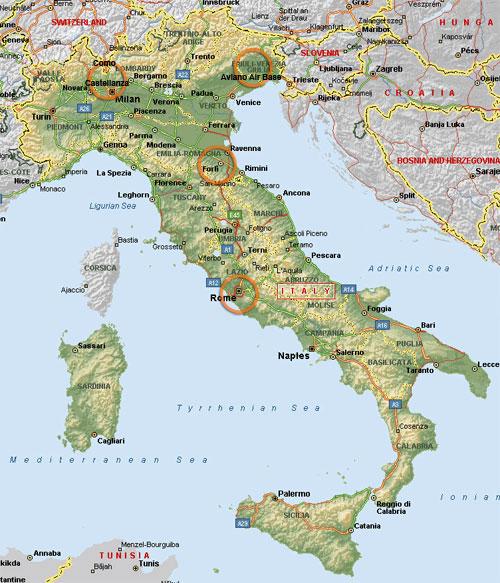 Aviano Italy Map