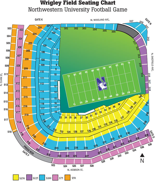The gallery for --> Wrigley Field Seating Chart With Rows ...