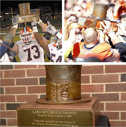 Land of Lincoln Trophy Illinois Northwestern