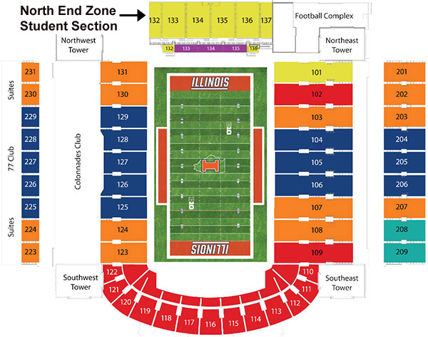 memorial stadium illinois seating chart: The problem with the north end zone section archive fighting