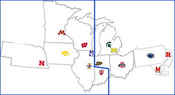 New B1G Division Alignment
