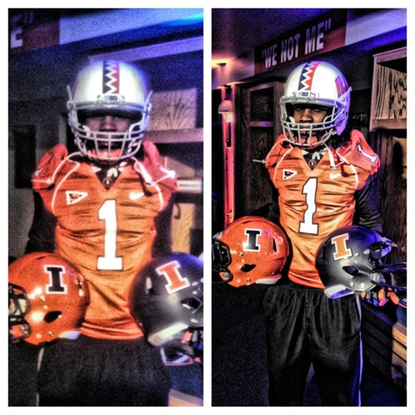 New Illini helmets and uniforms