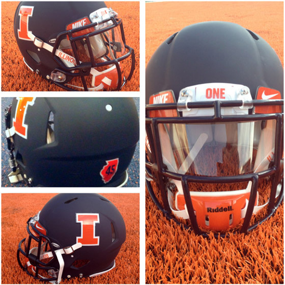 New Illini football helmets