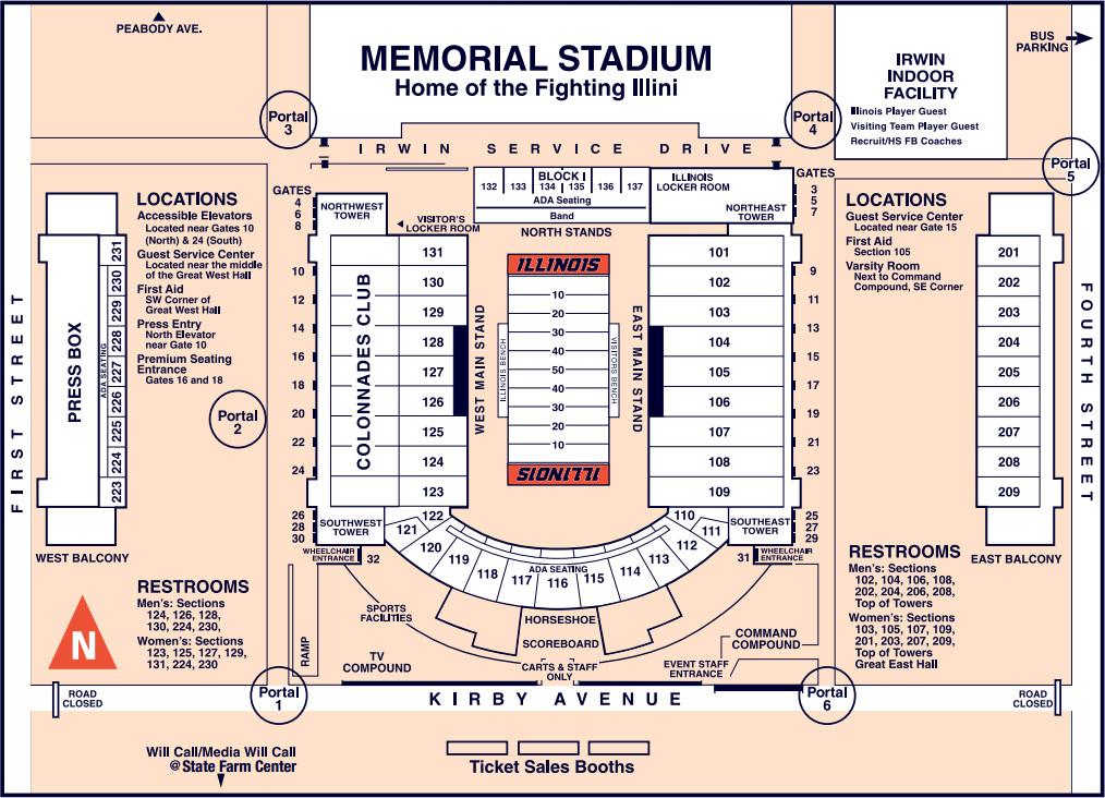 memorial stadium illinois seating chart: Illini tickets football seating chart university of illinois