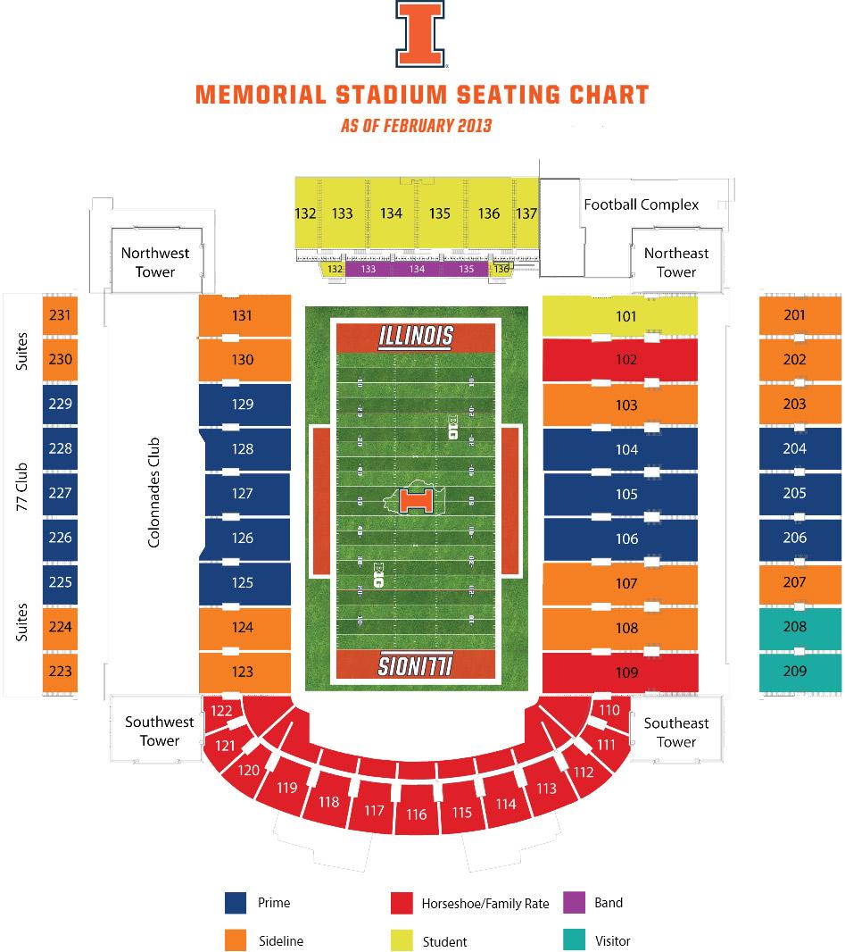 Illini Tickets Football Seating Chart University Of