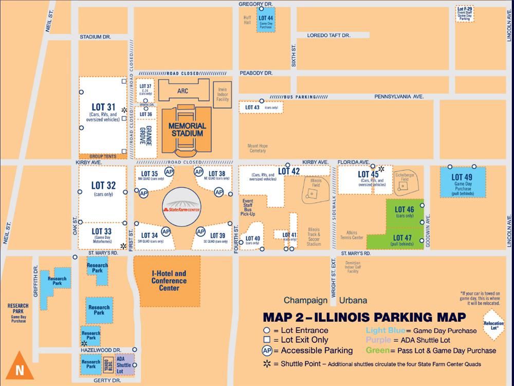 Football Seating Chart - University of Illinois Memorial ...